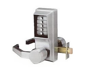 Commercial combination lock lever